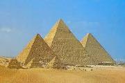 Tekst og presentasjon om gamle Egypt på arabisk og norsk.