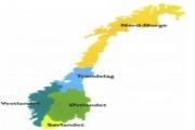 Undervisningsopplegg om landsdeler i Norge. På pashto og norsk.