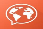 Mondly-app med ordlister, lyd og spill. Du kan velge hvilket språk du snakker.