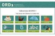 Ord 1 Alfabetisering Ord 1 elevressurs inneholder interaktive øvelser for å bli kjent med lyder, bokstaver og begreper på norsk.