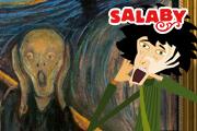 Maleriet Skrik av Edvard Munch + Salaby-logo