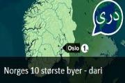 Norges 10 største byer. Nyhetssending på dari fra Tv2 Skole.