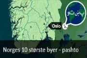 Norges 10 største byer. Nyhetssending på pashto fra Tv2 skole.