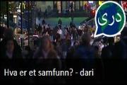Hva er et samfunn? Nyhetssending på dari fra Tv2 Skole.
