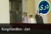 Kongefamilien. Nyhetssending på dari fra Tv2 Skole.