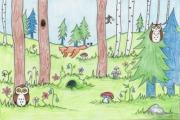 dyr i skog
