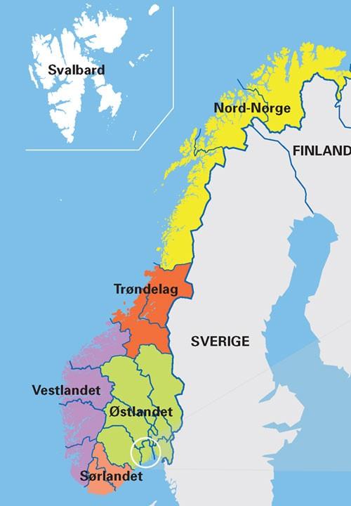 kart landsdeler norge بخشهای ناروی – skolekassa.no kart landsdeler norge