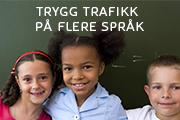 trafikkopplæring på 7 språk