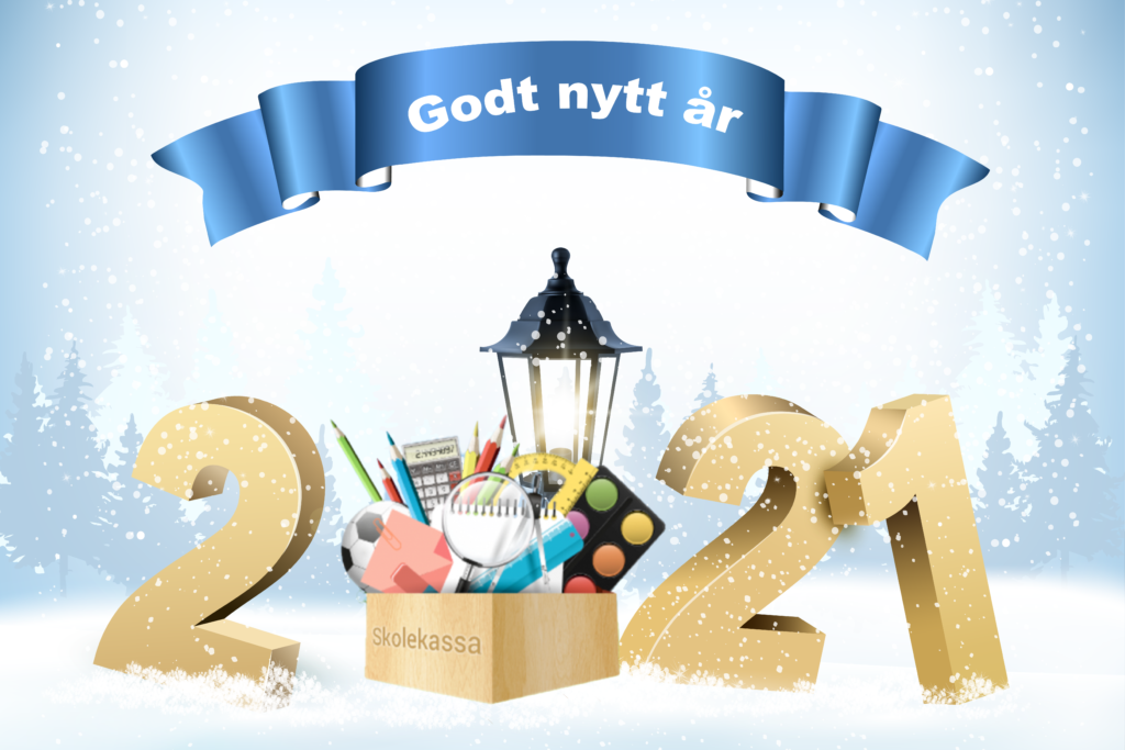 "A card with the text: ""Godt nytt år"", Happy New Year."